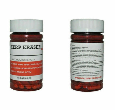 Immune System Support Herp Erase Virus (60 Capsules) Herbal Plant Extracts Dr Sebi 100% All Natural