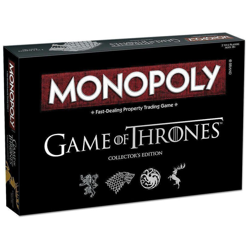 Game of Thrones Monopoly Board Game Party Home Game Fun Game Collector's Edition - RealDealPacks