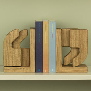 Handmade Wooden Bookends - Oak