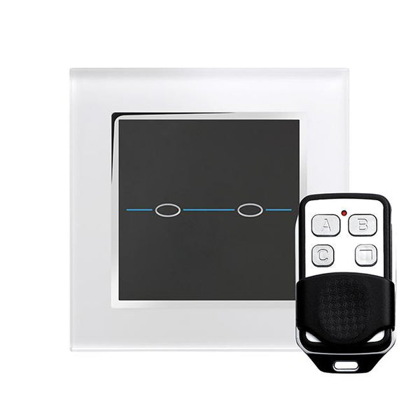 Crystal CT Touch & Remote Light Switch 2 Gang