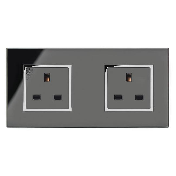 Crystal CT 13A Dual Double Plug Socket