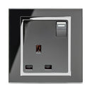 Crystal CT 13A Single Plug Socket with Switches