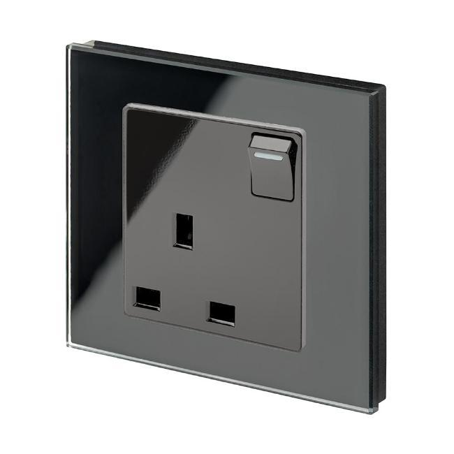 Crystal PG 13A Single Plug Socket with Switches