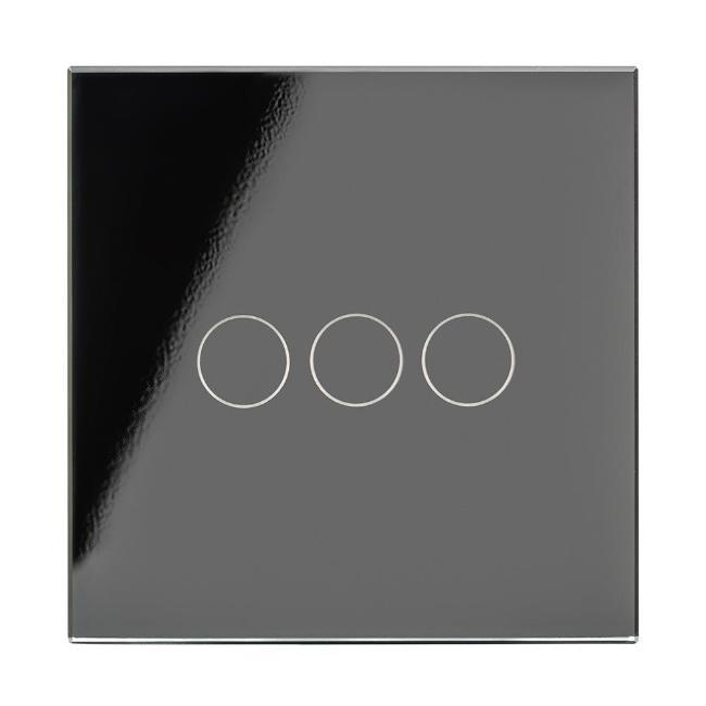 Crystal PG Wirefree Touch Light Switch 3 Gang