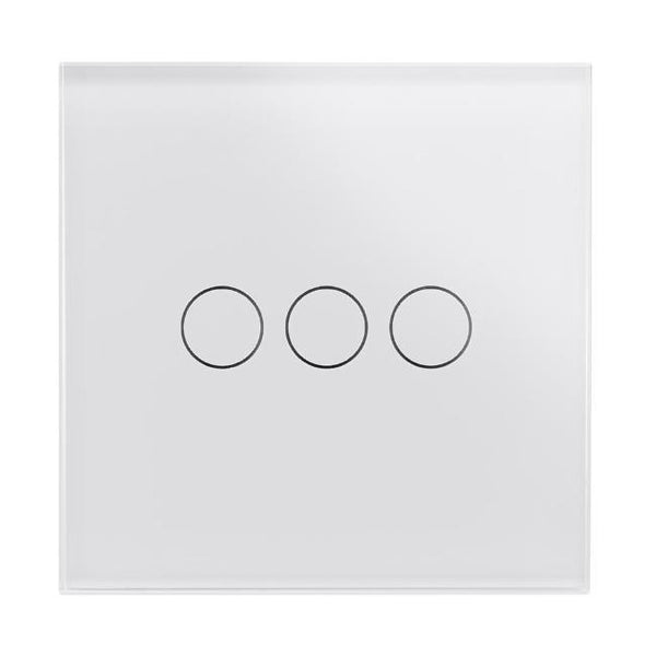 Crystal PG 3 Gang Touch Light Switch