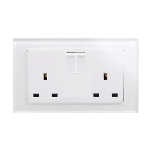 Crystal PG 13A DP Double Plug Socket with Switches