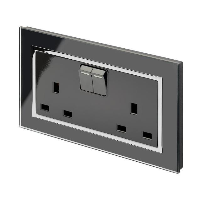 Crystal CT 13A DP Double Plug Socket with Switches