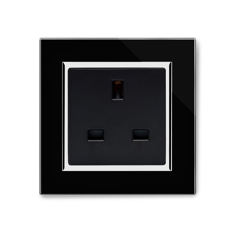 Crystal CT Single 13A UK Unswitched Socket