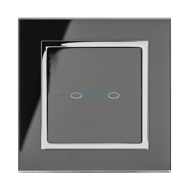 Crystal CT Wirefree Touch Light Switch 2 Gang
