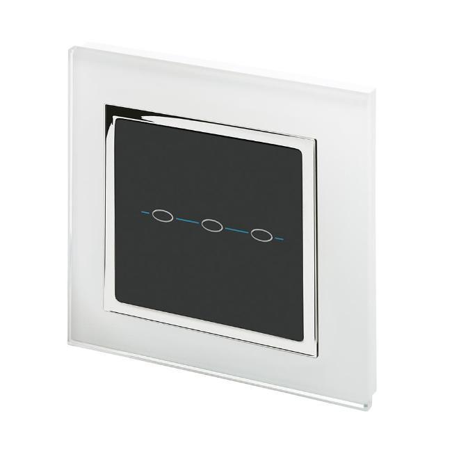Crystal CT Wirefree Touch Light Switch 3 Gang
