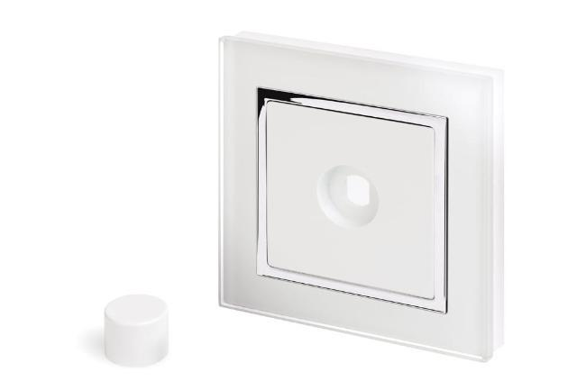 Crystal CT 1 Gang LED Dimmer Plate