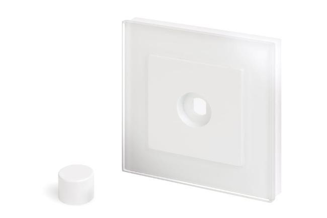 Crystal PG 1 Gang LED Dimmer Plate