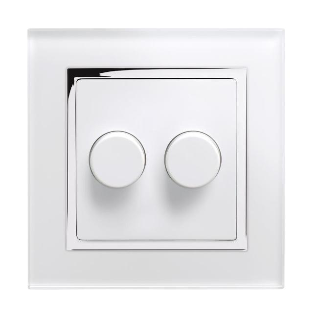 Crystal CT 2G Rotary LED Dimmer Switch 2 Way