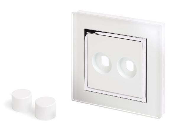 Crystal CT 2 Gang LED Dimmer Plate