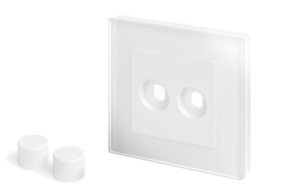 Crystal PG 2 Gang LED Dimmer Plate