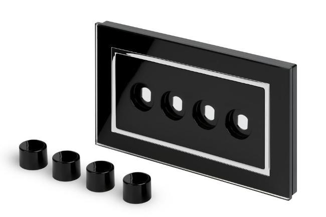 Crystal CT 4 Gang LED Dimmer Plate