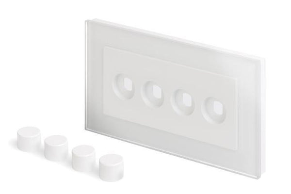 Crystal PG 4 Gang LED Dimmer Plat