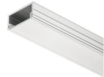 Surface Mounted LED Aluminium Profile, Length 2.5m, Depth 8.5mm