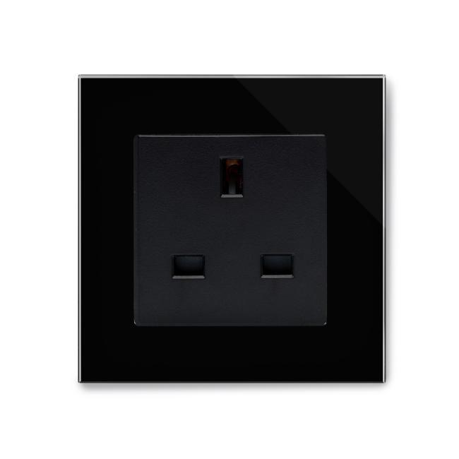 Crystal PG Single 13A UK Unswitched Socket