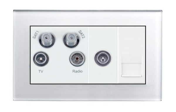 Crystal PG TV - Radio - Twin Sat/TV/BT Master Socket