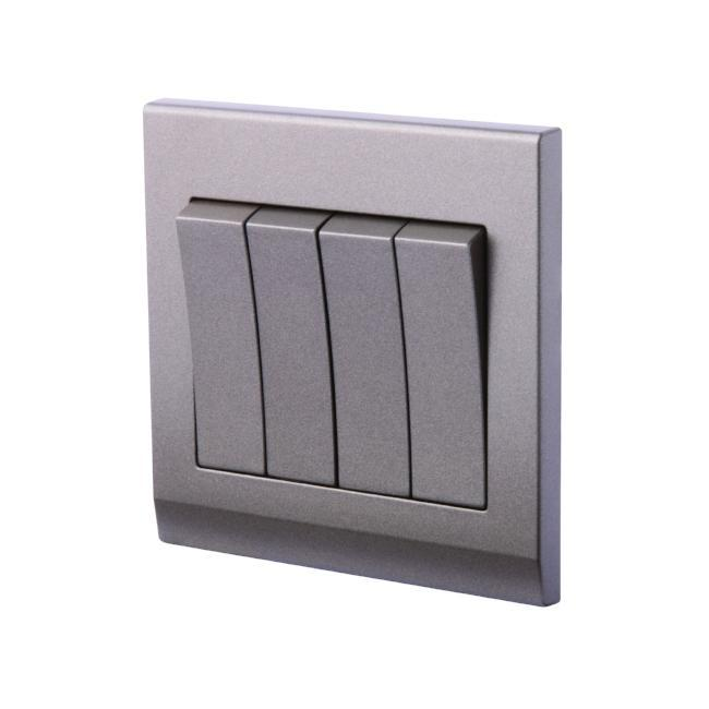 Simplicity Mechanical Light Switch 4 Gang