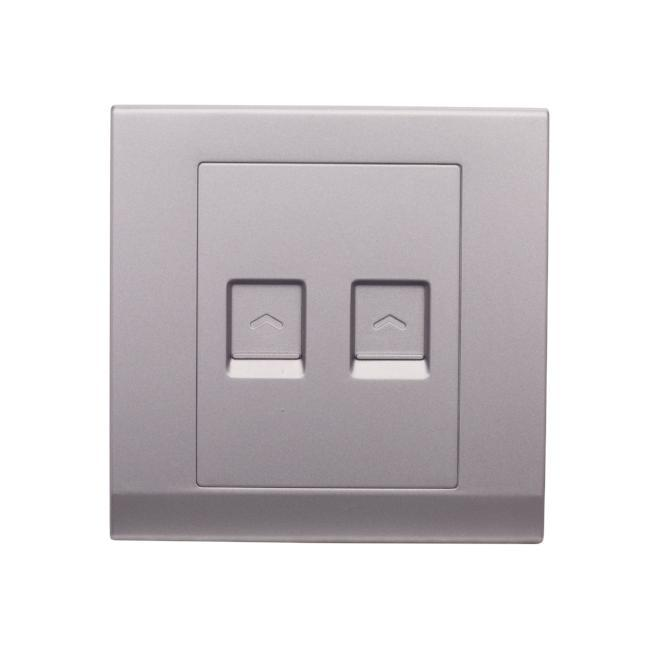Simplicity Double Cat5e Socket