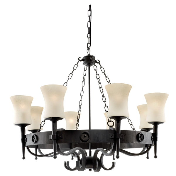 CARTWHEEL - 8LT CEILING BLACK SCAVO GLASS