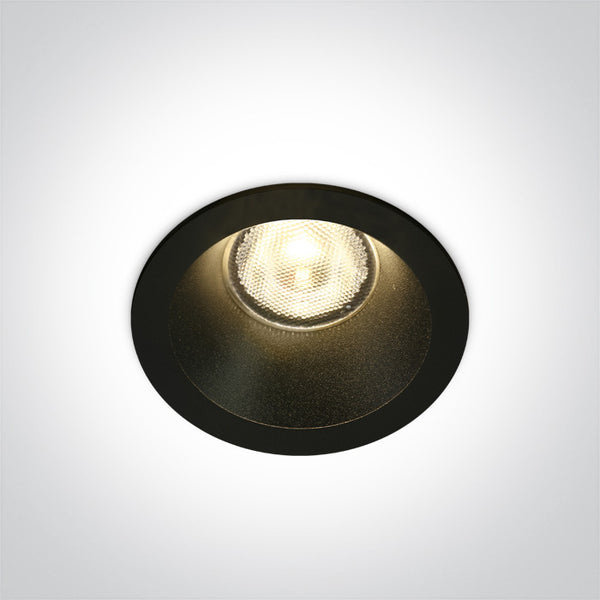BLACK LED 7W WW 38deg IP44 700mA DARK LIGHT
