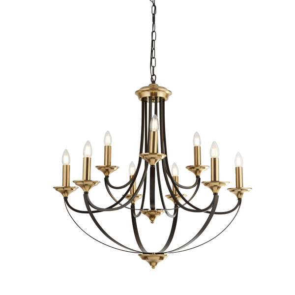 BELFRY 9LT PENDANT DARK BRONZE & BROWN