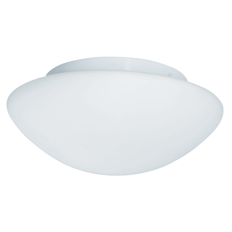 1 Light Flush Manufacturer_Searchlight, Fitting Type_Ceiling Light IP44 (23CM), Opal Glass