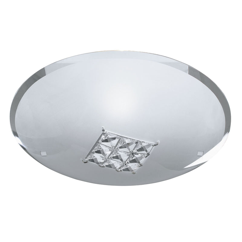 Francesca 1 Light Flush Manufacturer_Searchlight, Fitting Type_Ceiling Light With Square Crystals