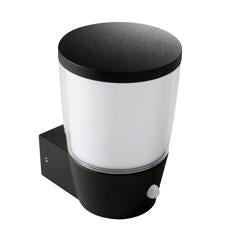 Sorta Outdoor Wall Light with PIR - E27 - IP44 - Black