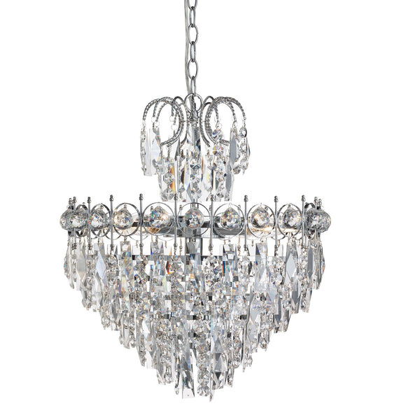 CATHERINE - 5LT TIER CEILING CHROME CLEAR CRYSTAL