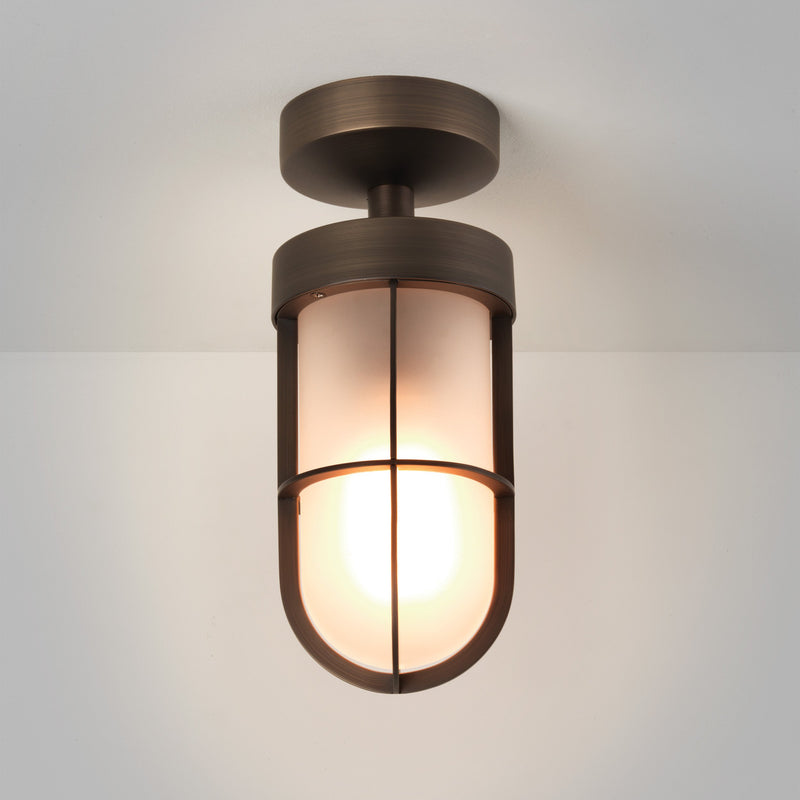 Astro - Cabin Frosted Semi Flush - Ceiling Light