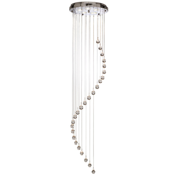 Hallway Spiral 5 Light Manufacturer_Searchlight, Fitting Type_Ceiling Light, Polished Chrome