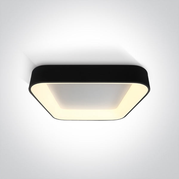 BLACK SQUARE PLAFO LED 50W WW IP20 230V