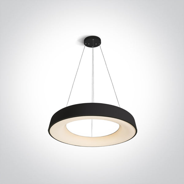 BLACK PENDANT LED 80W WW IP20 230V