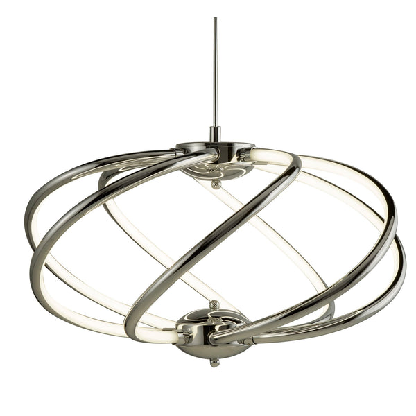 BARDOT (DIM) 7 CURVED ARM LED PENDANT CHROME
