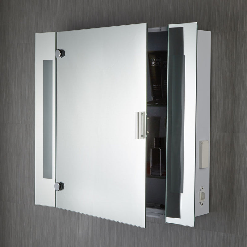 Illuminated Category_Bathroom Lighting 2 Light Mirror Cabinet IP44 With Shaver Socket