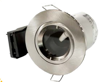 Twist & Lock Fixed GU10 Fire Rated Downlight IP65, Satin Nickel