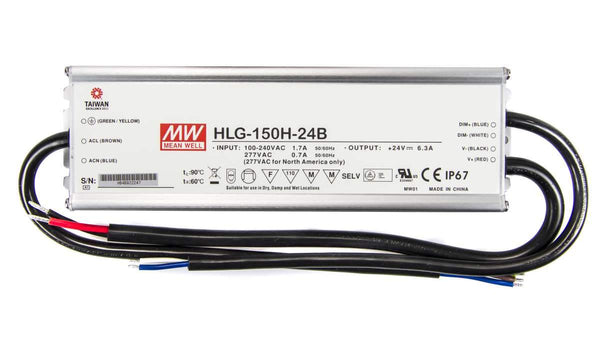 Mean Well HLG 24B Constant Voltage LED Dimmable Driver 24V