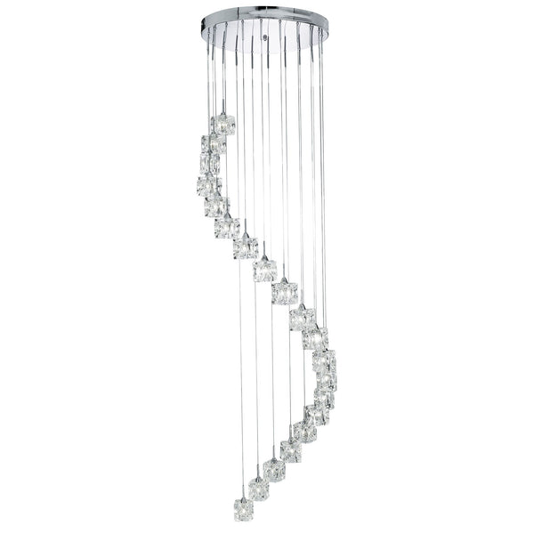 Ice LED 20 Light Manufacturer_Searchlight, Fitting Type_Ceiling Light, Polished Chrome