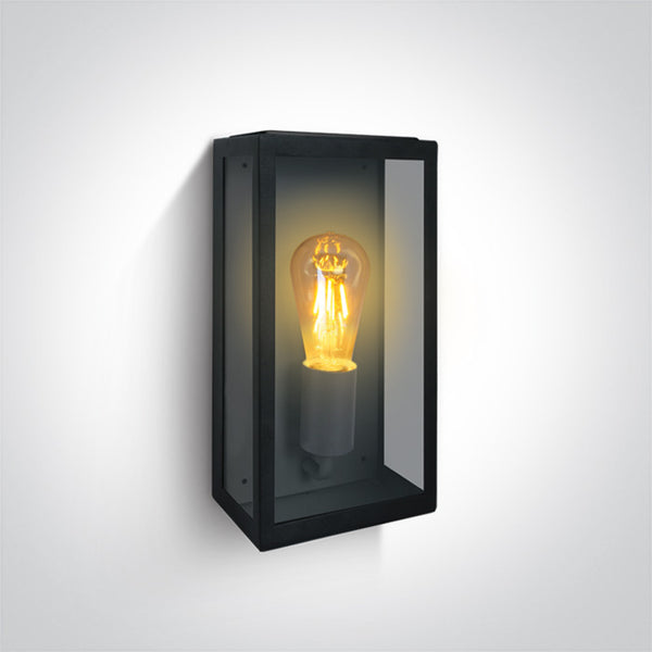 BLACK WALL LIGHT 40W E27 IP43