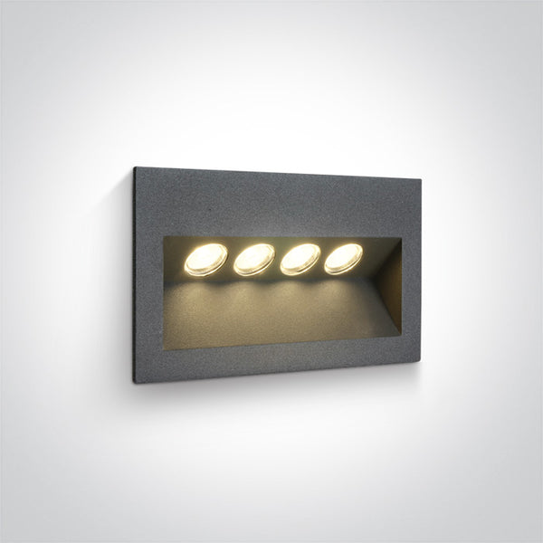 ANTHRACITE IP65 LED 4x1w WW 100-240V