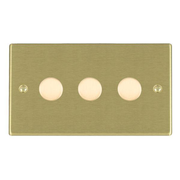 Leading Edge Push On/Off Resistive Dimmers 3 Gang 400W 2 Way Dimmer