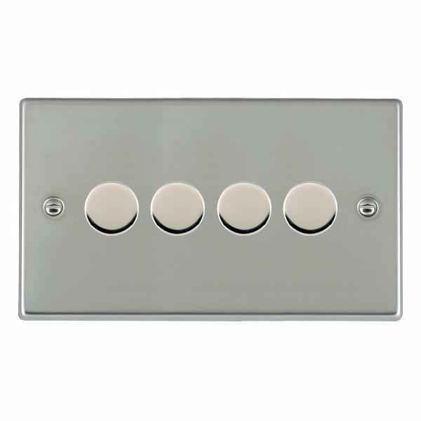 Leading Edge Push On/Off Resistive Dimmers 4 Gang 400W 2 Way (Max.300 watts per Gang) Dimmer