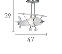 Novelty Airplane 1 Light Ceiling Pendant