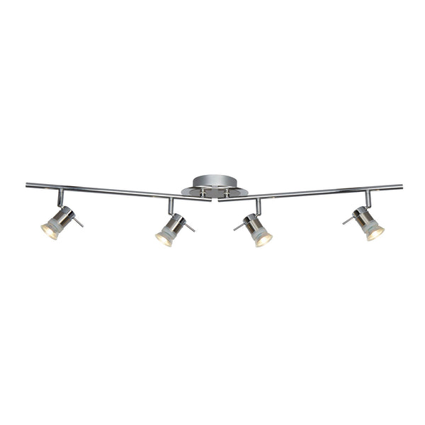 Aries 4 Light Ceiling Spotlight IP44, Polished Chrome