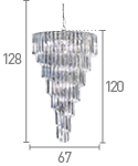 Sigma 9 Light Manufacturer_Searchlight, Fitting Type_Ceiling Light, Polished Chrome