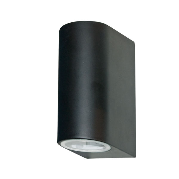 2 Light Outdoor Manufacturer_Searchlight, Fitting Type_Wall Light IP44, Black